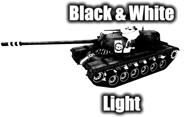 Шкурки с зонами пробития Black&White Light для версии WoT 0.8.8